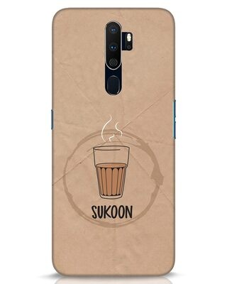 Shop Sukoon Wali Chai Oppo A9 2020 Mobile Cover-Front
