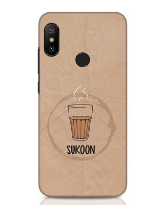 Shop Sukoon Wali Chai Xiaomi Redmi Note 6 Pro Mobile Cover-Front