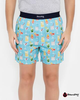 Shop Smugglerz Summer Coctails Men's Printed Boxer-Front