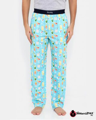 Shop Smugglerz Summer Cocktails Pyjamas Blue-Front