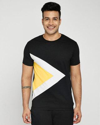 Shop Happy Yellow Pyramid T-Shirt-Front