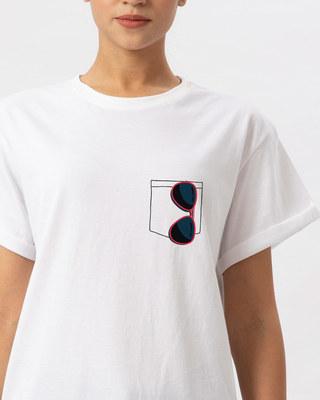 Shop Sunglasses Boyfriend T-Shirt-Front