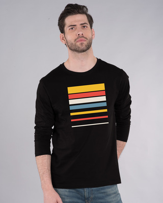 Shop Sunset Block Full Sleeve T-Shirt-Front