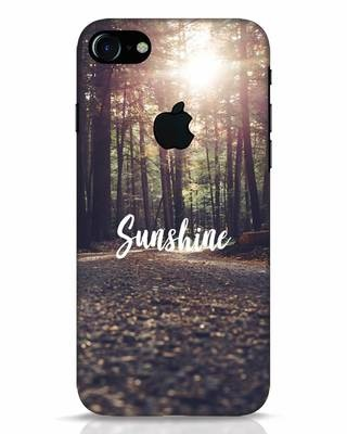Shop Sunshine iPhone 7 Logo Cut Mobile Cover-Front