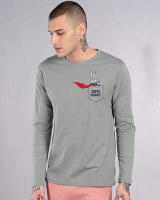 Shop Super Bunny Full Sleeve T-Shirt (LTL)-Front
