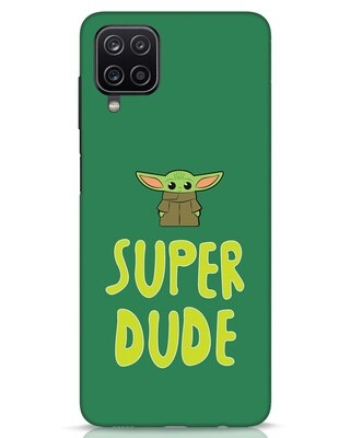 Shop Super Dude Samsung Galaxy A12 Mobile Cover-Front
