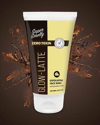 Shop Super Smelly Glow Latte Exfoliating Face Wash-Front