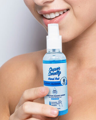 Shop Super Smelly Hand Sanitizer Spray 100 ML Pack of 5-Front