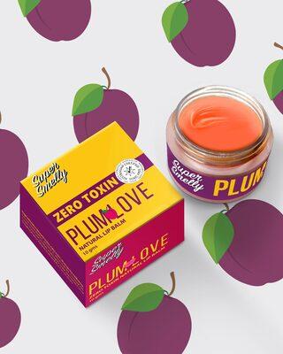 Shop Super Smelly Zero Toxin Plum Love Natural Lip Balm-Front