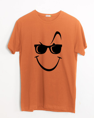 Shop Super Swag Smile Half Sleeve T-Shirt-Front