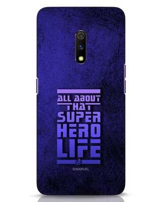 Shop Superhero Life Realme X Mobile Cover (AVL)-Front