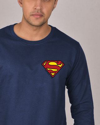 Shop Superman Badge Fleece Sweater (SL)-Front