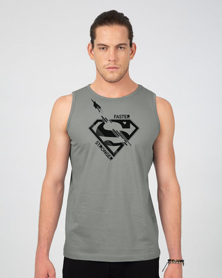 Shop Superman Faster Stronger Vest (SML)-Front