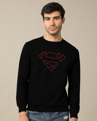 Shop Superman Line Fleece Sweater (SML)-Front