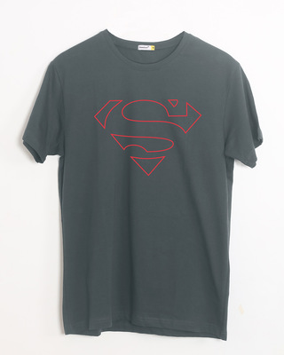 Shop Superman Line Half Sleeve T-Shirt (SML)-Front