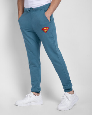 Shop Superman Logo Casual Badge Jogger Pants-Front