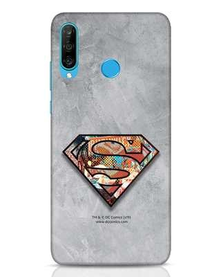 Shop Superman Logo Collage Huawei P30 Lite Mobile Cover-Front
