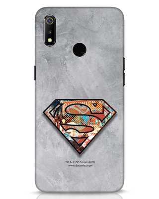 Shop Superman Logo Collage Realme 3 Mobile Cover-Front