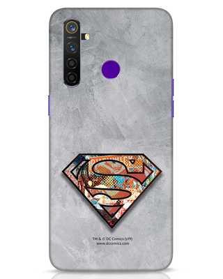 Shop Superman Logo Collage Realme 5 Pro Mobile Cover-Front