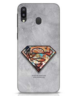 Shop Superman Logo Collage Samsung Galaxy M20 Mobile Cover-Front