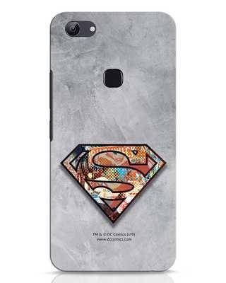 Shop Superman Logo Collage Vivo Y83 Mobile Cover-Front