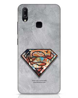Shop Superman Logo Collage Vivo Y91 Mobile Cover-Front