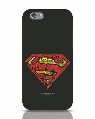 Shop Superman Logo Doodle iPhone 6 Mobile Cover (SL)-Front