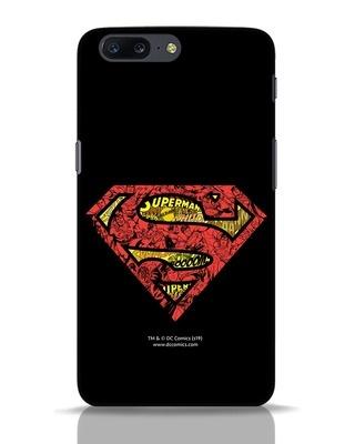 Shop Superman Logo Doodle OnePlus 5 Mobile Cover (SL)-Front