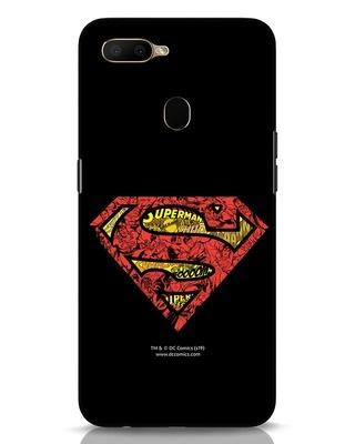 Shop Superman Logo Doodle Oppo A5s Mobile Cover (DL)-Front