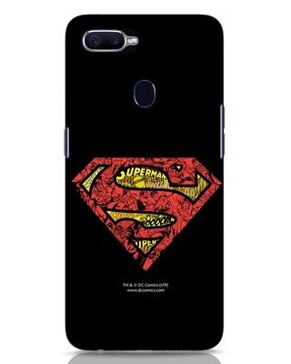 Shop Superman Logo Doodle Oppo F9 Pro Mobile Cover (DL)-Front