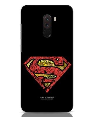 Shop Superman Logo Doodle Xiaomi POCO F1 Mobile Cover (DL)-Front