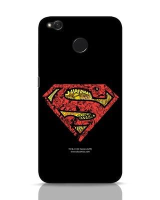 Shop Superman Logo Doodle Xiaomi Redmi 4 Mobile Cover (DL)-Front