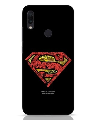 Shop Superman Logo Doodle Xiaomi Redmi Note 7 Pro Mobile Cover (DL)-Front