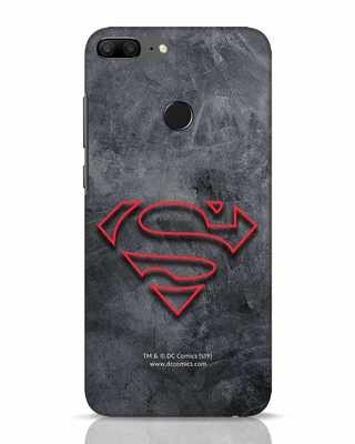 Shop Superman Logo Line Huawei Honor 9 Lite Mobile Cover-Front