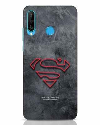 Shop Superman Logo Line Huawei P30 Lite Mobile Cover-Front