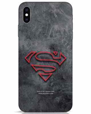 Shop Superman Logo Line iPhone XS Max Mobile Cover-Front
