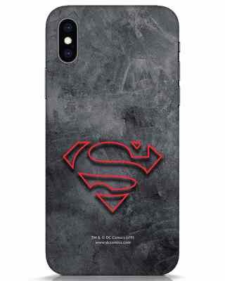 Shop Superman Logo Line iPhone XS Mobile Cover-Front