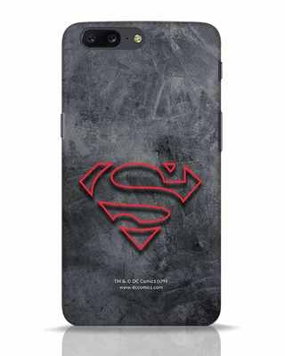 Shop Superman Logo Line OnePlus 5 Mobile Cover-Front