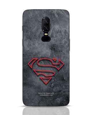 Shop Superman Logo Line OnePlus 6 Mobile Cover-Front