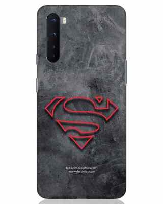 Shop Superman Logo Line OnePlus Nord Mobile Cover-Front