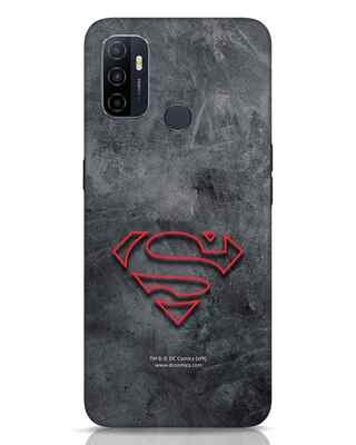 Shop Superman Logo Line Oppo A53 Mobile Cover-Front