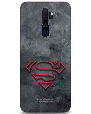 Shop Superman Logo Line Oppo A9 2020 Mobile Cover-Front