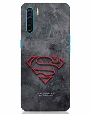 Shop Superman Logo Line Oppo F15 Mobile Cover-Front