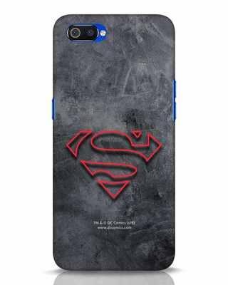 Shop Superman Logo Line Realme C2 Mobile Cover-Front