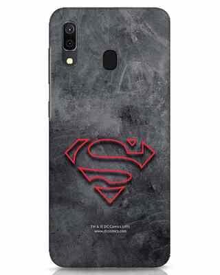 Shop Superman Logo Line Samsung Galaxy A30 Mobile Cover-Front