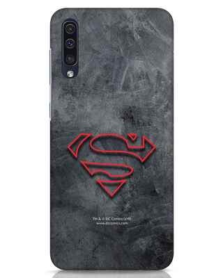 Shop Superman Logo Line Samsung Galaxy A50 Mobile Cover-Front