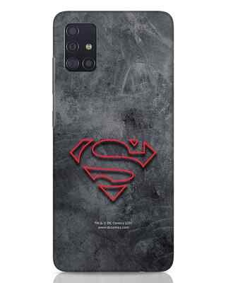 Shop Superman Logo Line Samsung Galaxy A51 Mobile Cover-Front