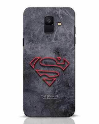 Shop Superman Logo Line Samsung Galaxy A6 2018 Mobile Cover-Front