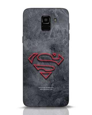 Shop Superman Logo Line Samsung Galaxy J6 Mobile Cover-Front