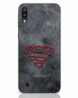 Shop Superman Logo Line Samsung Galaxy M10 Mobile Cover-Front
